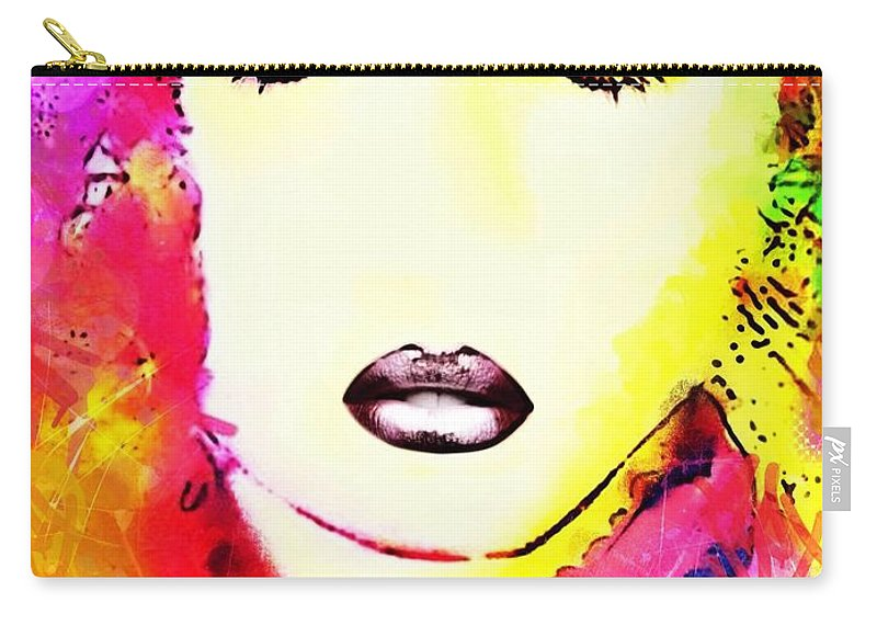 Martine Carry-all Pouch featuring the digital art Martine by Pikotine Art