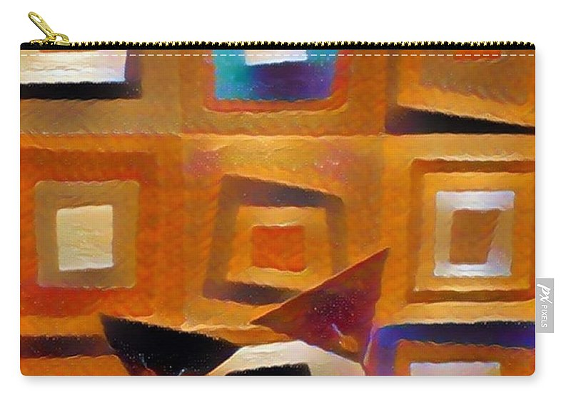 Carry-all Pouch featuring the digital art Martini by Melinda Sullivan Image and Design