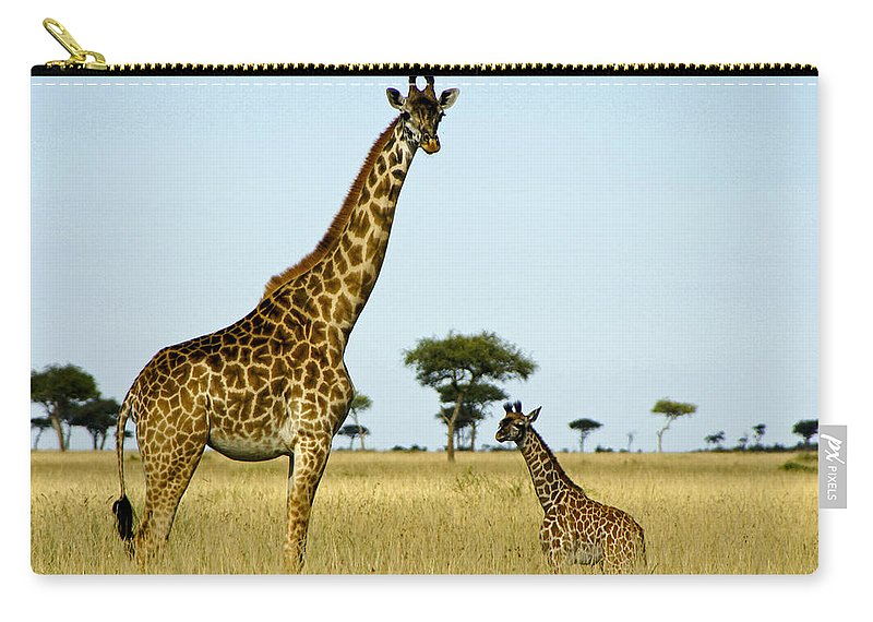 Africa Carry-all Pouch featuring the photograph Meet My Little One by Michele Burgess