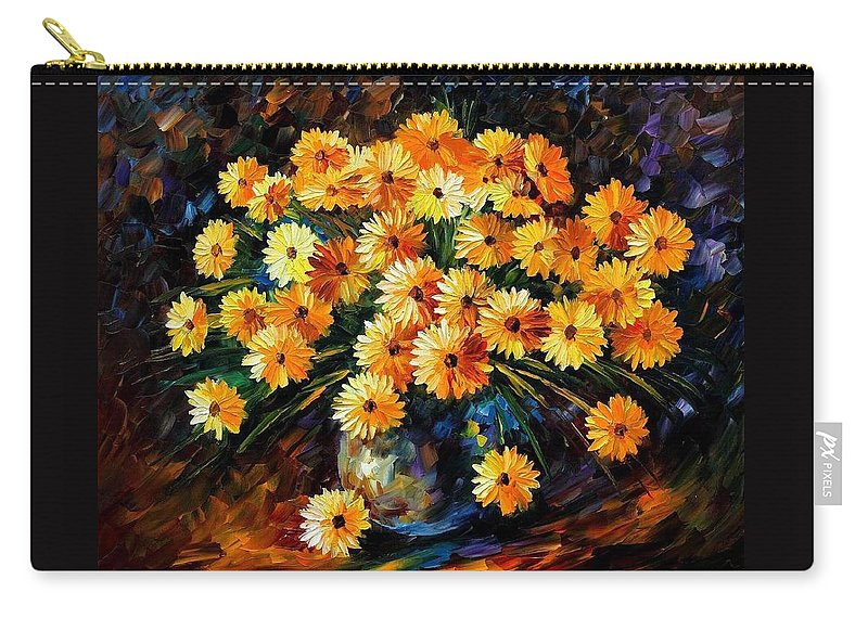 Afremov Carry-all Pouch featuring the painting Melody Of Beauty by Leonid Afremov