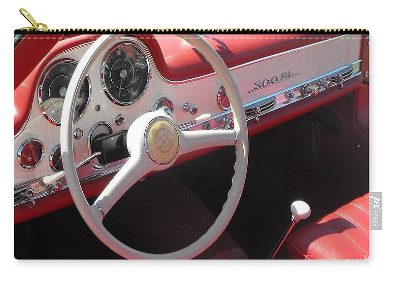Mercedes Carry-all Pouch featuring the photograph Mercedes 300sl Dashboard by Neil Zimmerman