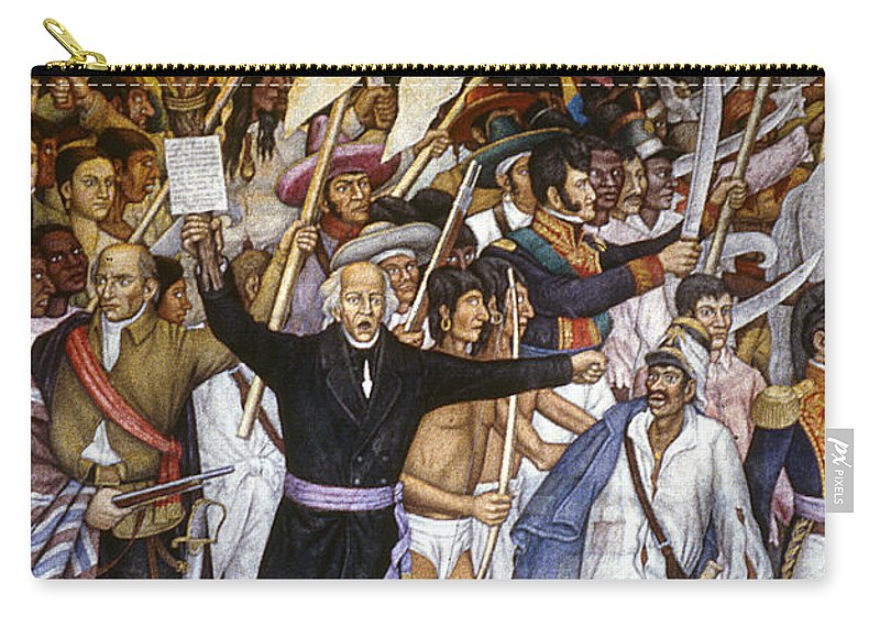 1810 Carry-all Pouch featuring the photograph Mexico: 1810 Revolution by Granger