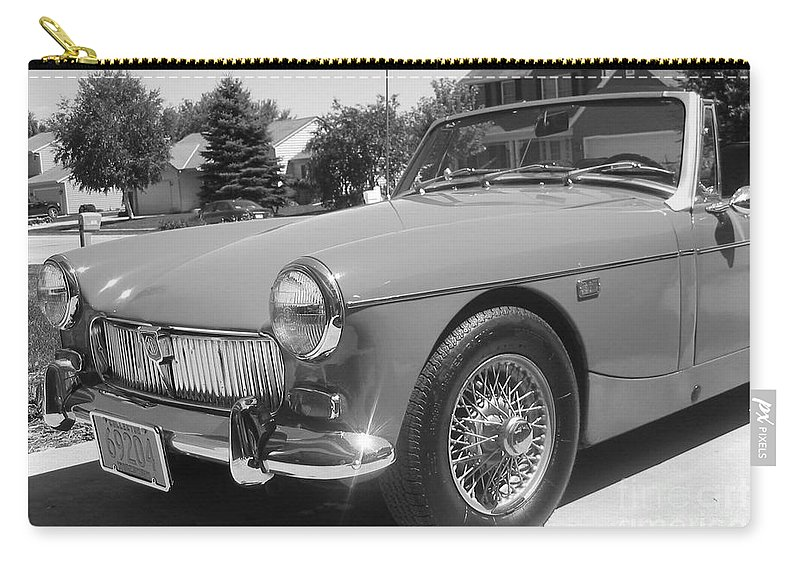 Mg Carry-all Pouch featuring the photograph Mg Midget by Neil Zimmerman