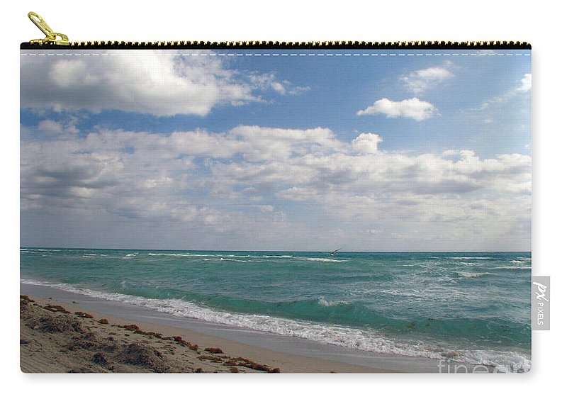 Miami Beach Carry-all Pouch featuring the photograph Miami Beach by Amanda Barcon