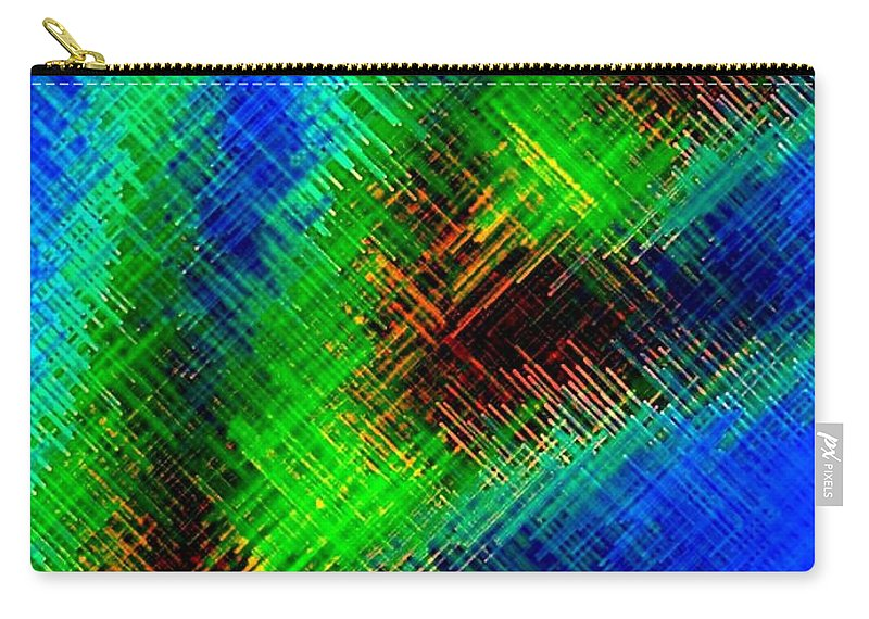Micro Linear Carry-all Pouch featuring the digital art Micro Linear 7 by Will Borden