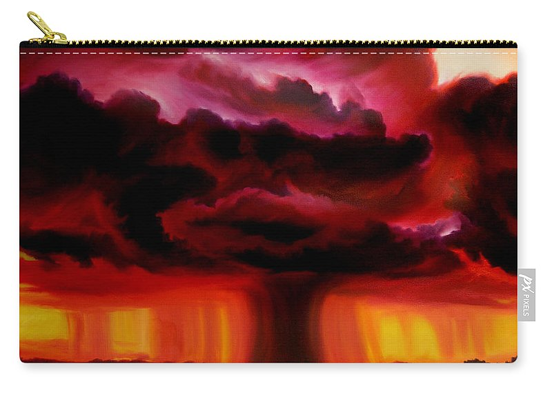 Skyscape Carry-all Pouch featuring the painting Microburst by James Christopher Hill