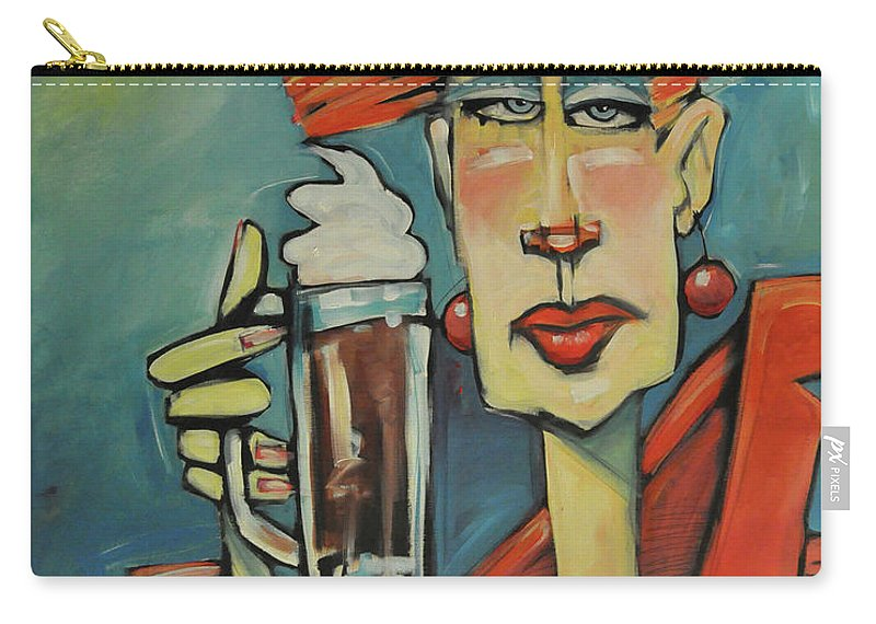 Woman Carry-all Pouch featuring the painting Mocha Double Shot by Tim Nyberg
