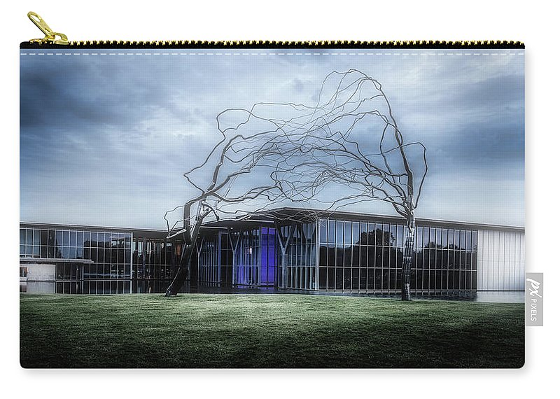 Modern Art Museum Carry-all Pouch featuring the photograph Modern Art Museum Of Fort Worth by L O C
