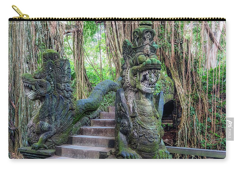 Bridge Carry-all Pouch featuring the photograph Monkey Forest Ubud - Bali by Joana Kruse
