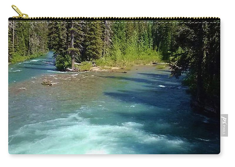 Mountains Carry-all Pouch featuring the photograph Montana River by Eric Fellegy
