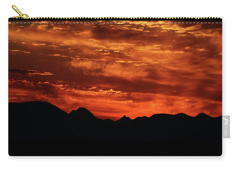 Montana Carry-all Pouch featuring the photograph Montana Sunset by Whispering Peaks Photography
