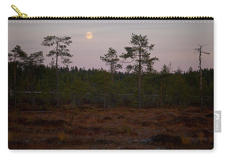 Lehtokukka Carry-all Pouch featuring the photograph Moon Over Wetlands by Jouko Lehto