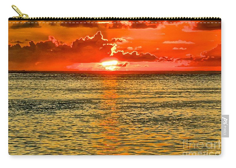 Moorea Carry-all Pouch featuring the photograph Moorea Sunset by Ivana Kovacic