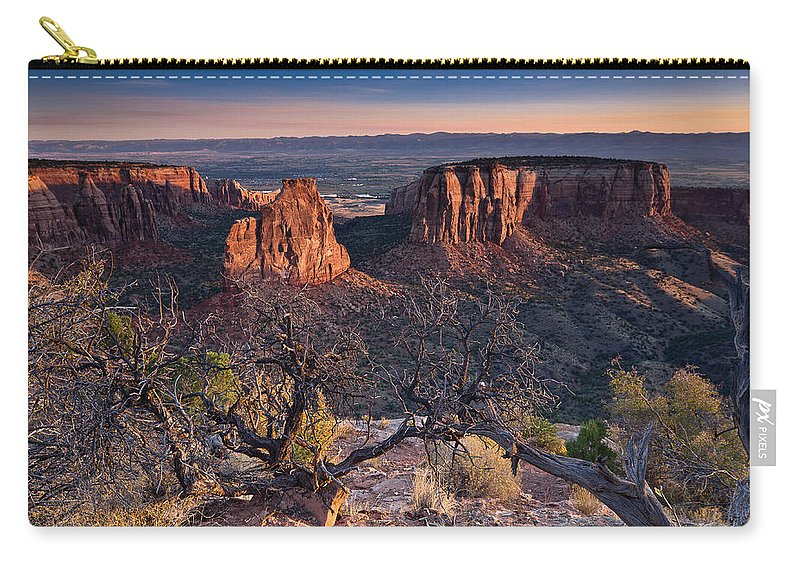 Colorado National Monument Carry-all Pouch featuring the photograph Morning At Colorado National Monument by Greg Nyquist