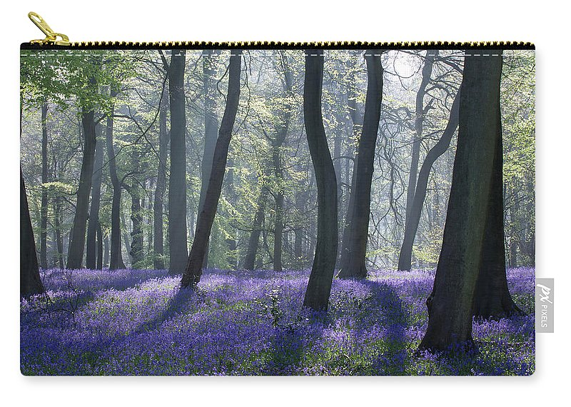Bluebells Carry-all Pouch featuring the photograph Morning Bluebells by Ceri Jones