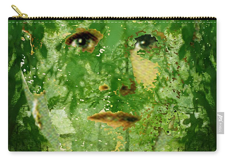 Lady Carry-all Pouch featuring the digital art Mother Nature by Seth Weaver