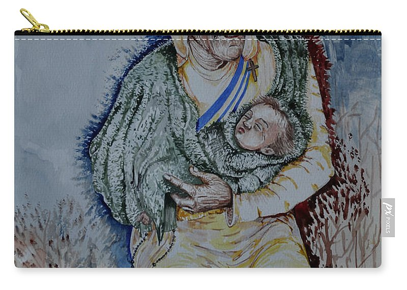 Mother Carry-all Pouch featuring the painting Mother's Love by Joseph Franco