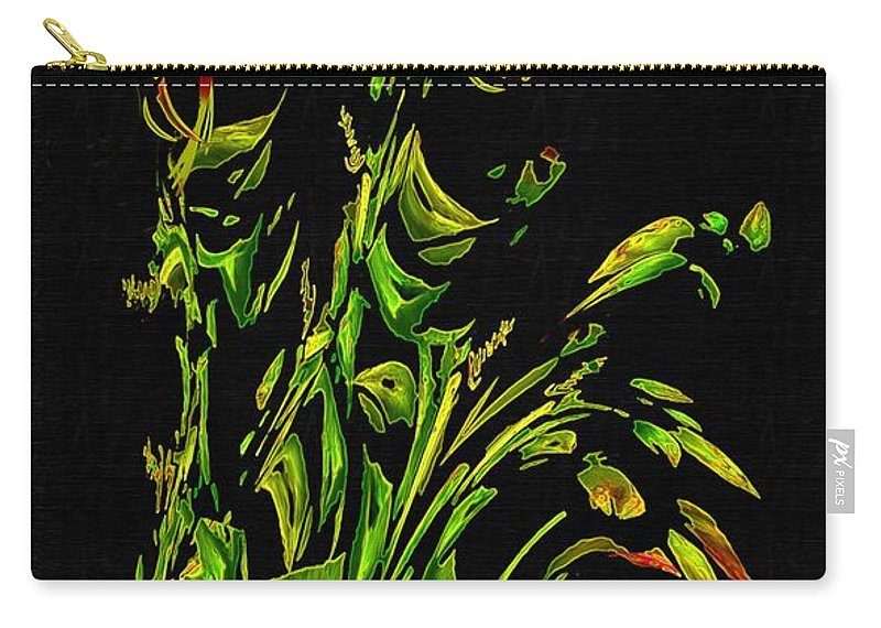 Asian Carry-all Pouch featuring the painting Motif Japonica No. 5 by RC DeWinter