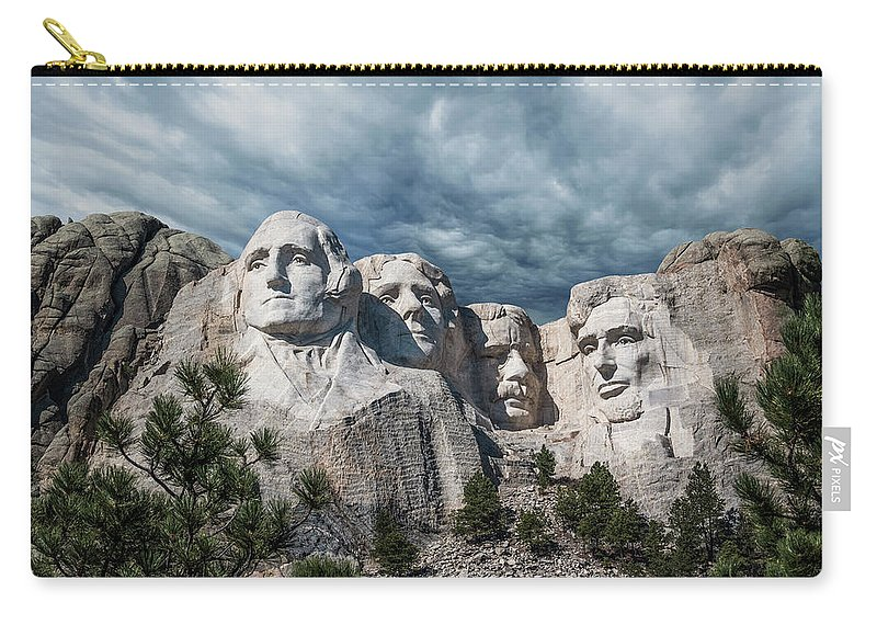 Mt. Rushmore Carry-all Pouch featuring the photograph Mount Rushmore II by Tom Mc Nemar