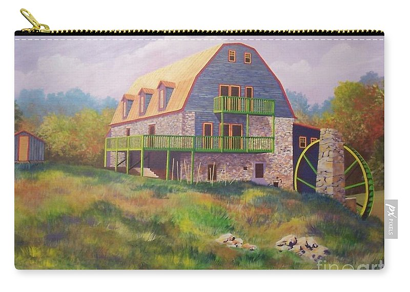 Mill Carry-all Pouch featuring the painting Mountain Mill by Hugh Harris
