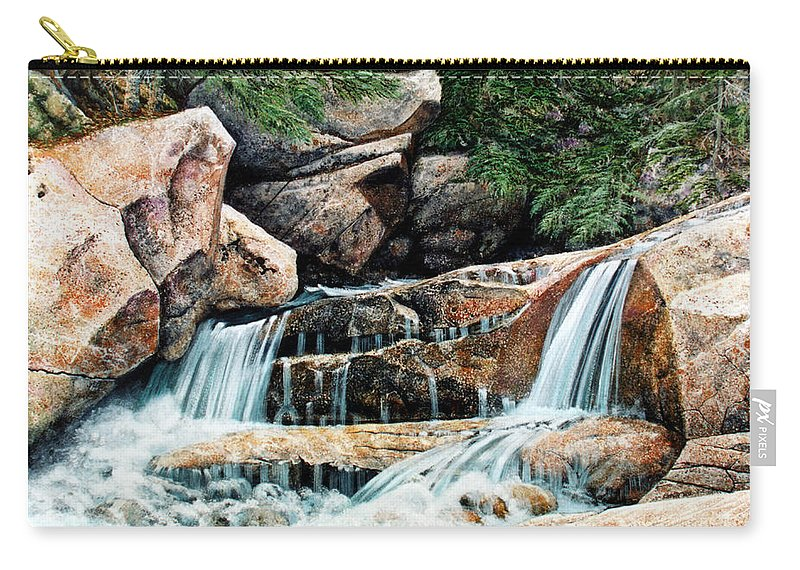 Landscape Carry-all Pouch featuring the painting Mountain Stream by Frank Wilson