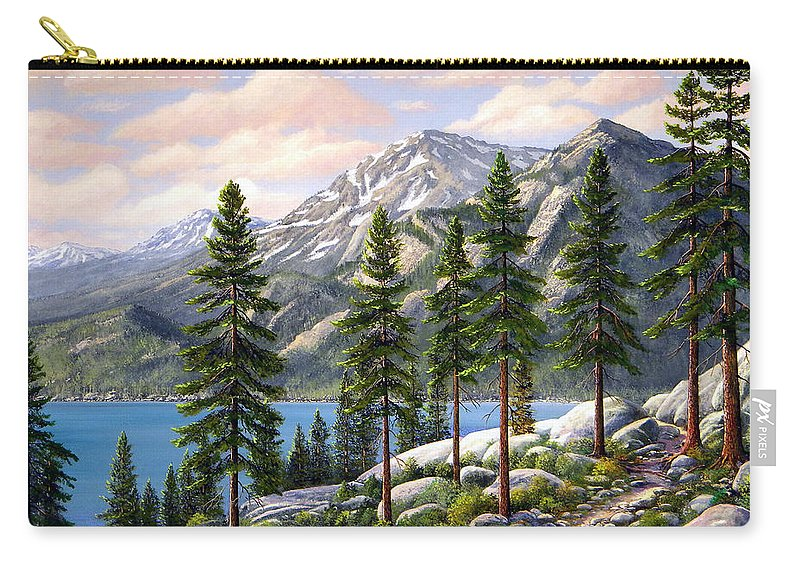 Landscape Carry-all Pouch featuring the painting Mountain Trail by Frank Wilson