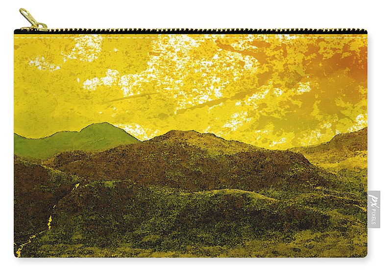 Painting Carry-all Pouch featuring the digital art Mountains by Svetlana Sewell