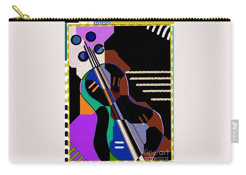 Abstract Carry-all Pouch featuring the digital art Music by Cooky Goldblatt