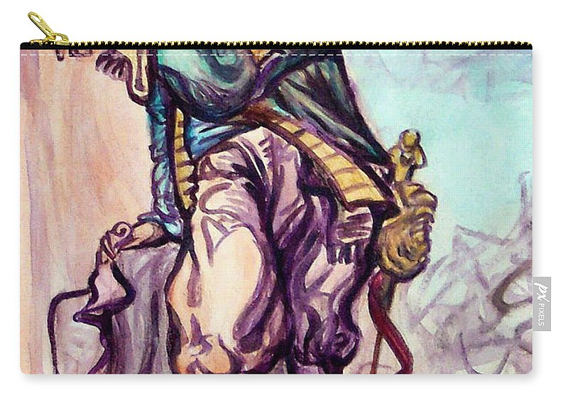 Musketeer Carry-all Pouch featuring the painting Musketeer by Kevin Middleton