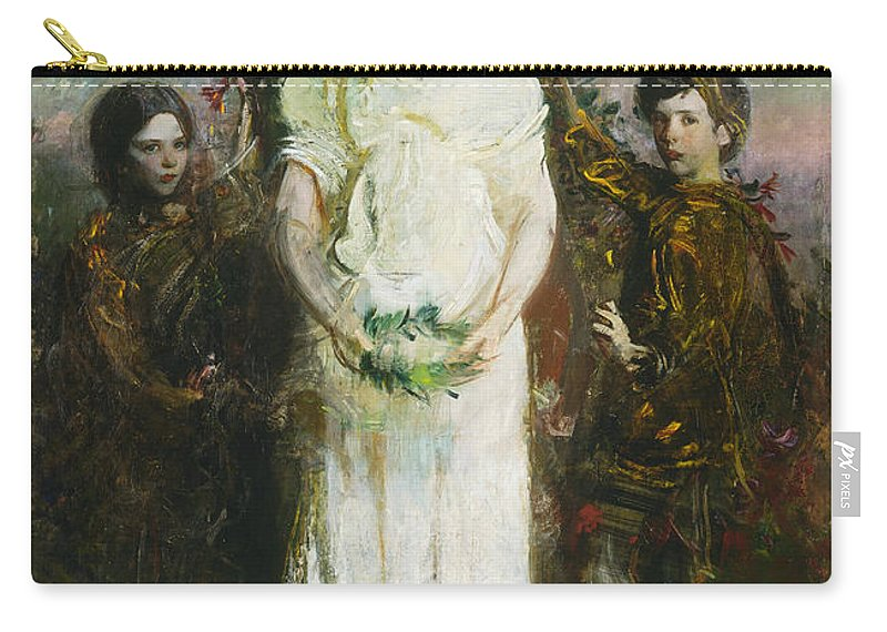 American Artist Carry-all Pouch featuring the painting My Children by Abbott Handerson Thayer