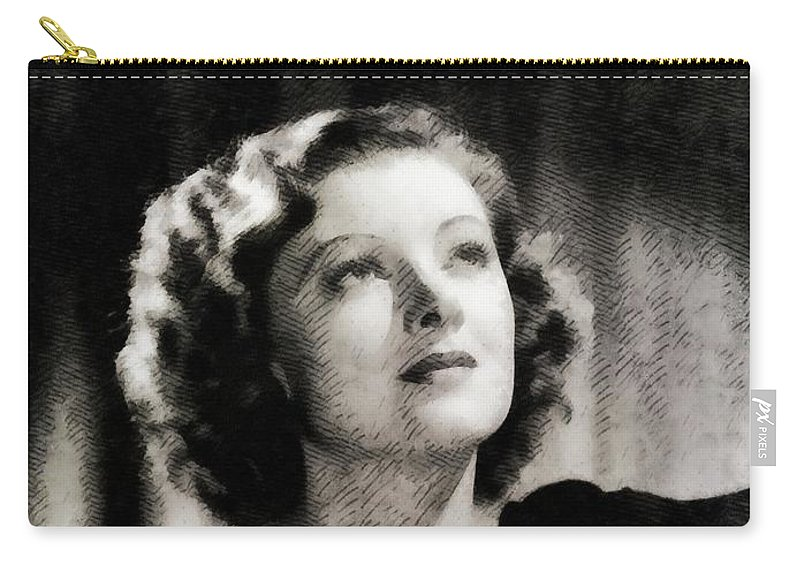 Myrna Carry-all Pouch featuring the painting Myrna Loy, Vintage Actress by John Springfield