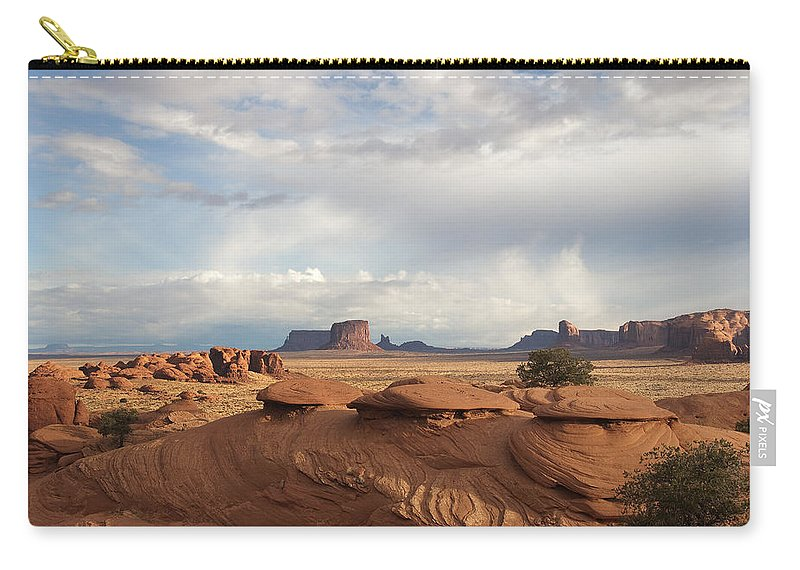 Monument Carry-all Pouch featuring the photograph Mystery Valley View 7496 by Bob Neiman