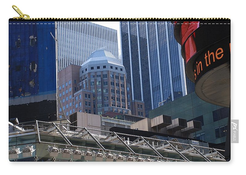 Architecture Carry-all Pouch featuring the photograph N Y C Architecture by Rob Hans
