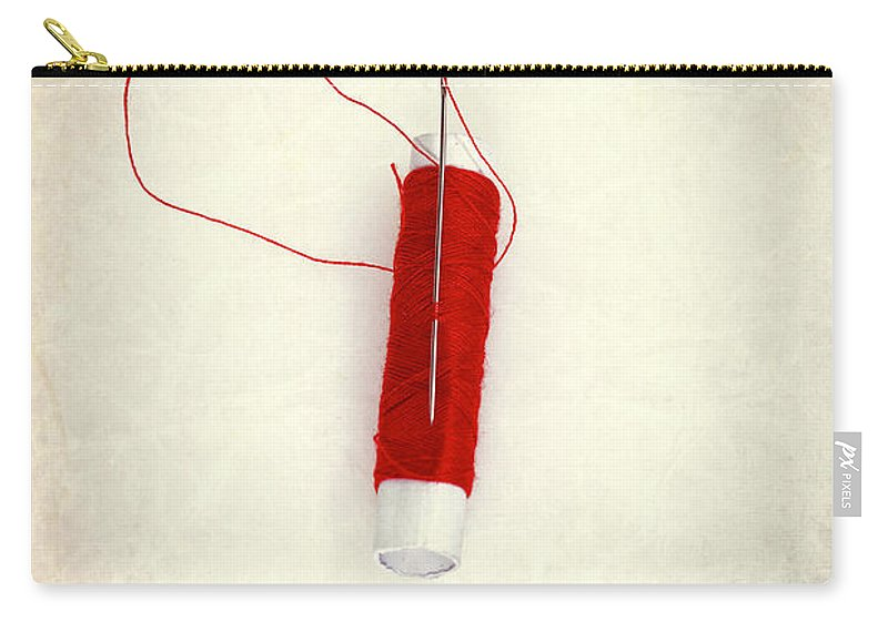 Needle Carry-all Pouch featuring the photograph Needle And Thread by Joana Kruse
