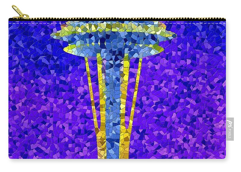 Seattle Carry-all Pouch featuring the photograph Needle In Mosaic by Tim Allen