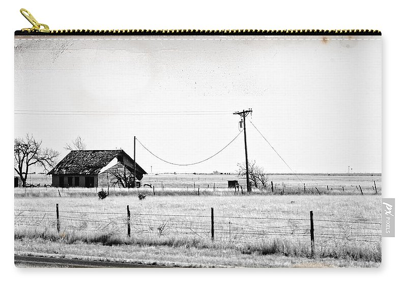 New Mexico Carry-all Pouch featuring the photograph New Mexico Roadside by Lars Lentz