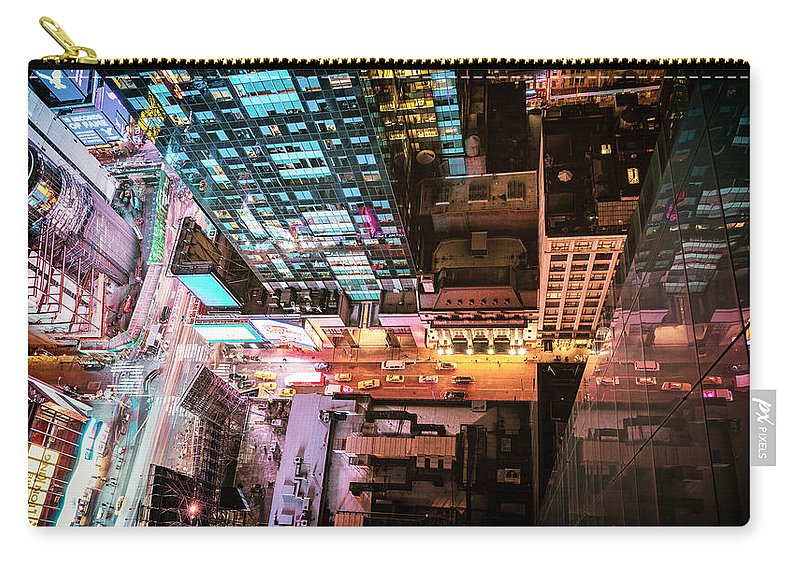 Nyc Carry-all Pouch featuring the photograph New York City - Night by Vivienne Gucwa