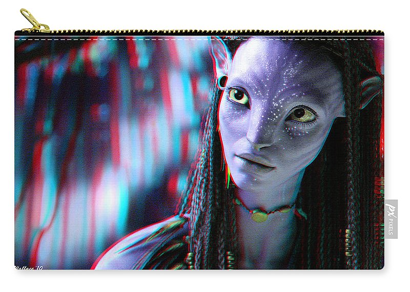 3d Carry-all Pouch featuring the photograph Neytiri - Use Red And Cyan 3d Glasses by Brian Wallace