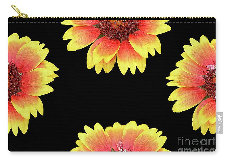 Flowers Carry-all Pouch featuring the photograph Nice Patterns by Elvira Ladocki