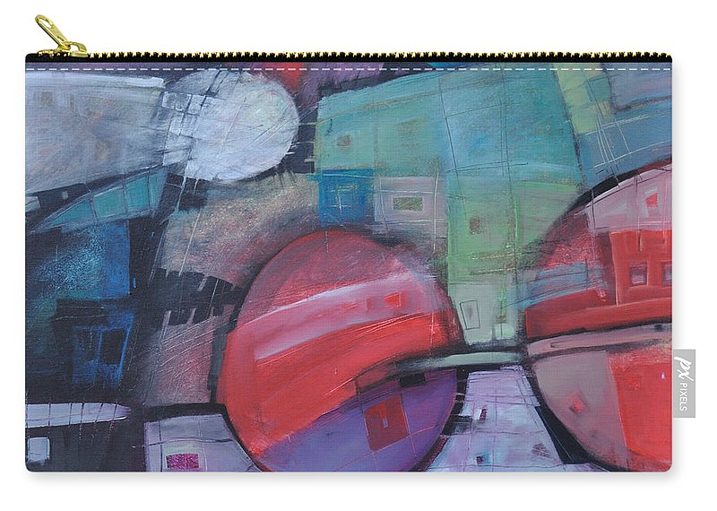Train Carry-all Pouch featuring the painting Night Train by Tim Nyberg