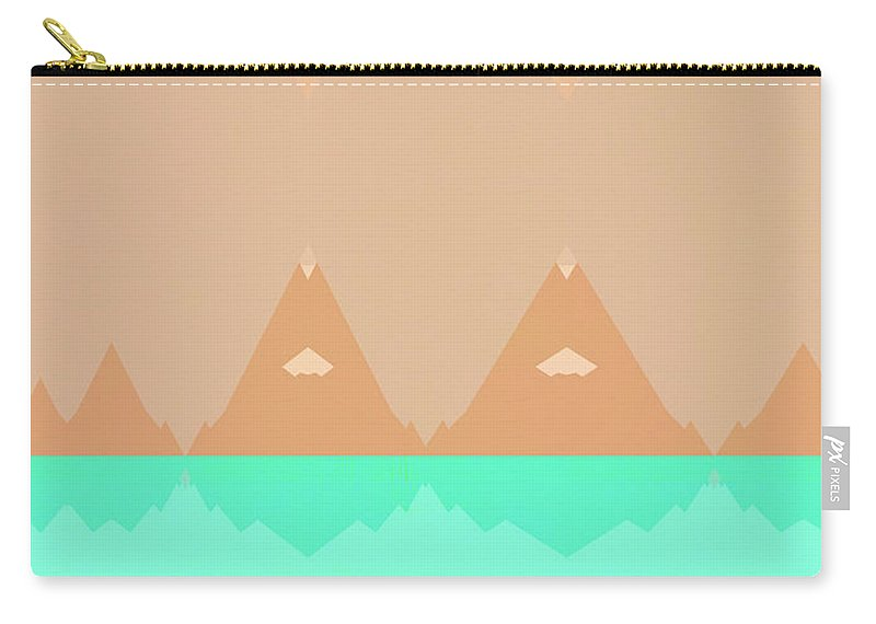 Mountains Carry-all Pouch featuring the photograph No Curves Ahead by Carol Leigh