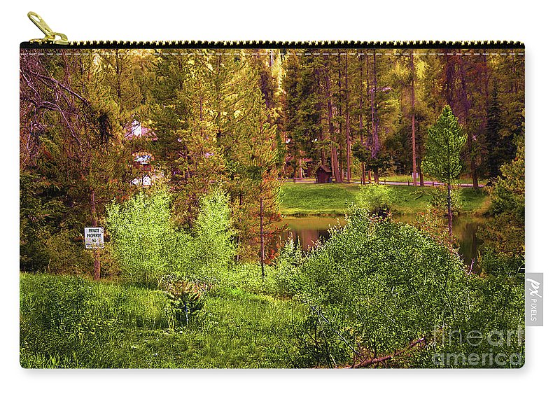 Landscape Carry-all Pouch featuring the photograph No Trespassing by Madeline Ellis