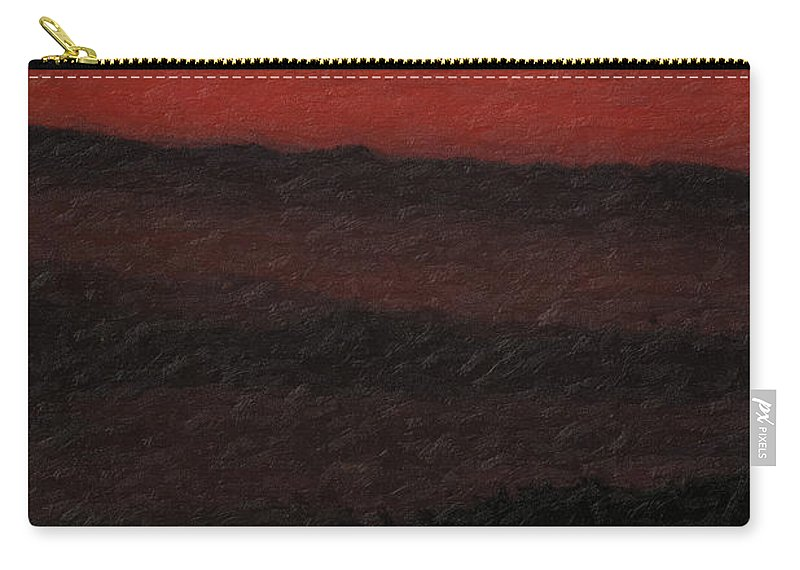 �not Quite Rothko� Collection By Serge Averbukh Carry-all Pouch featuring the photograph Not quite Rothko - Blood Red Skies by Serge Averbukh
