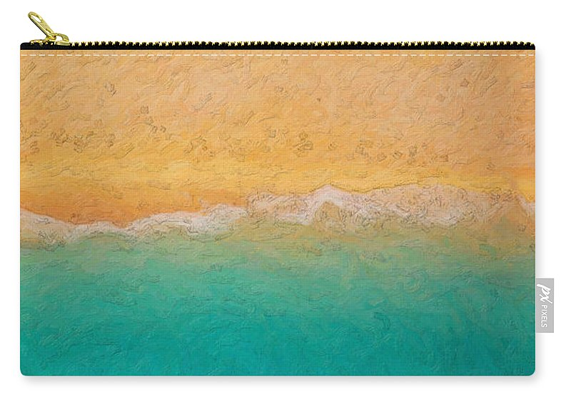 �not Quite Rothko� Collection By Serge Averbukh Carry-all Pouch featuring the photograph Not Quite Rothko - Surf And Sand 1 by Serge Averbukh