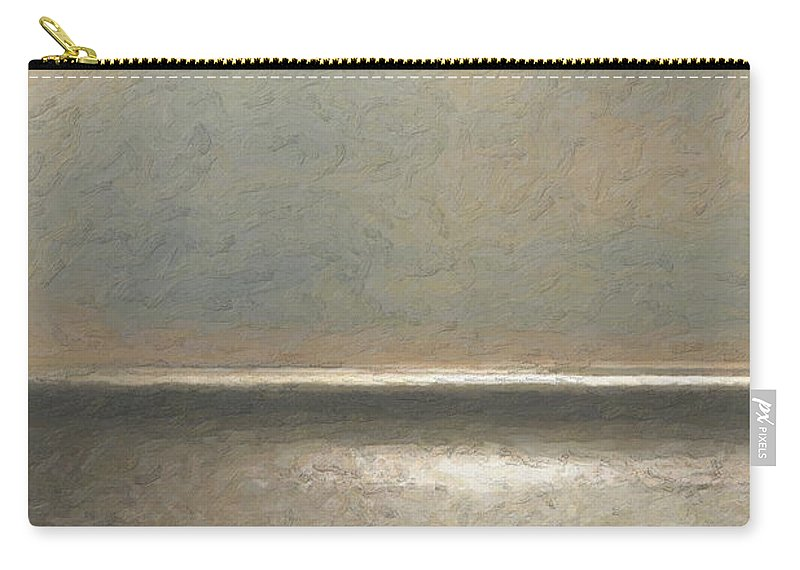 �not Quite Rothko� Collection By Serge Averbukh Carry-all Pouch featuring the photograph Not quite Rothko - Twilight Silver by Serge Averbukh