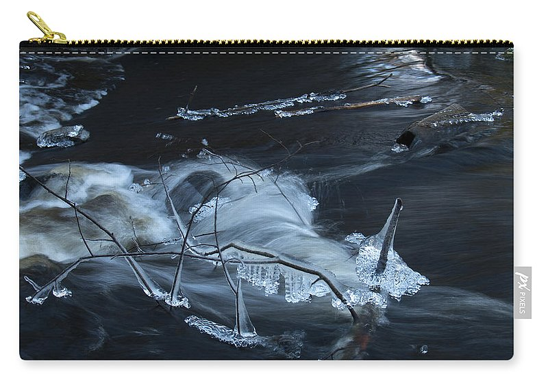 Lehtokukka Carry-all Pouch featuring the photograph November Creek 1 by Jouko Lehto