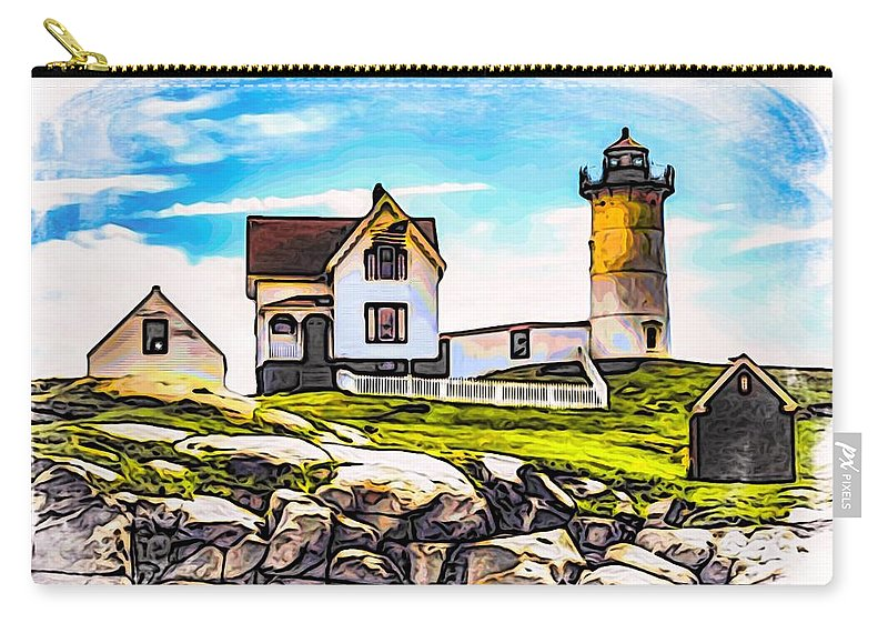 Nubble Lighthouse Carry-all Pouch featuring the photograph Nubble Lighthouse by Mark Sellers