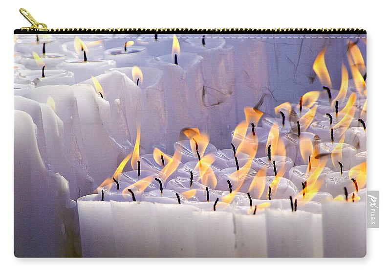 Candles Carry-all Pouch featuring the photograph Offering by Michele Burgess