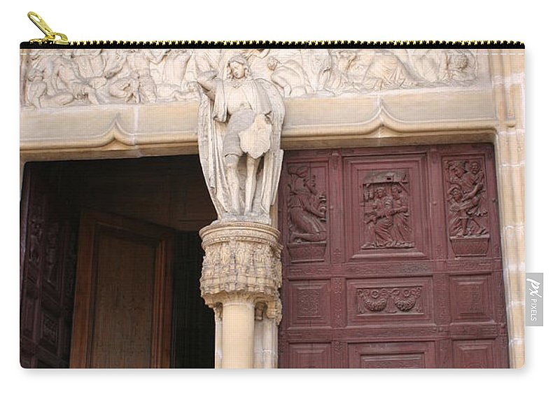 Door Carry-all Pouch featuring the photograph Old Church Door by Christiane Schulze Art And Photography