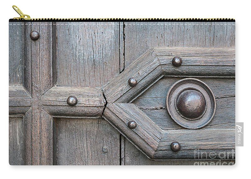 Door Carry-all Pouch featuring the photograph Old Door Detail by Elena Elisseeva